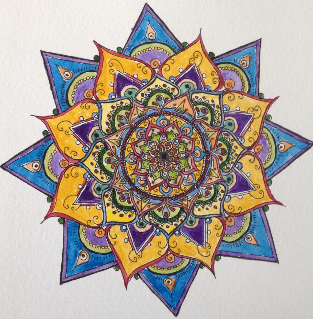 Coloriage adulte anti stress 32 dessin de mandala - Dessin anti stress mandala ...