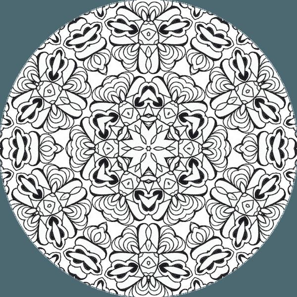 Le coloriage anti stress comment a marche dessin de mandala - Dessin anti stress mandala ...