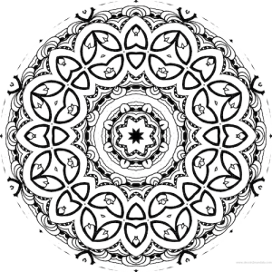 dessin mandala à colorier numero 052