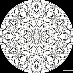 dessin mandala à colorier numero 056