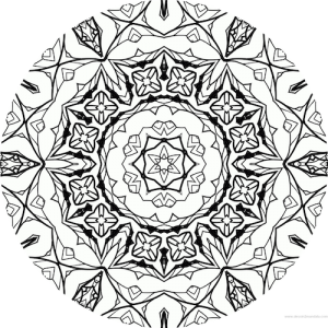 dessin mandala à colorier numero 058