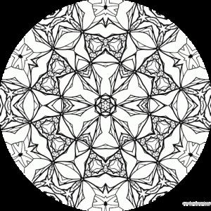 dessin mandala à colorier numero 059