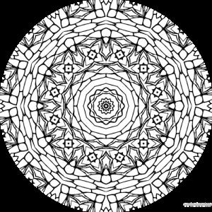 dessin mandala à colorier numero 061