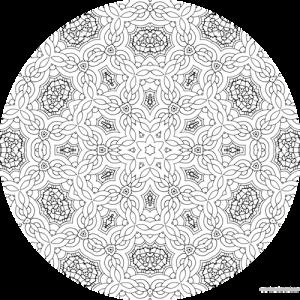 dessin mandala à colorier numero 076