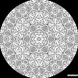 dessin mandala à colorier numero 078