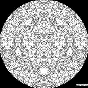 dessin mandala à colorier numero 081