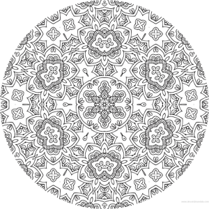 dessin mandala à colorier numero 085