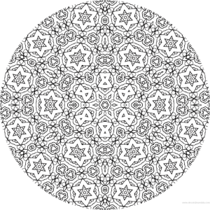 dessin mandala à colorier numero 090