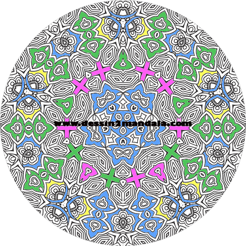 mandala à colorier numéro 01