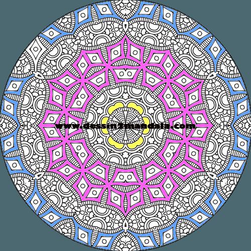 mandala à colorier numéro 04