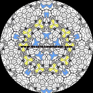 mandala à colorier numéro 07