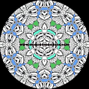 mandala à colorier numéro 09
