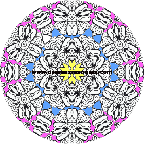 mandala à colorier numéro 10