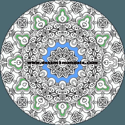 mandala à colorier numéro 11