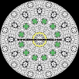 mandala à colorier numéro 13