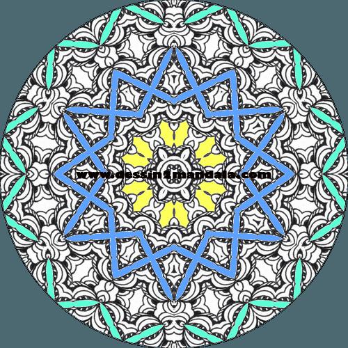 mandala à colorier numéro 19