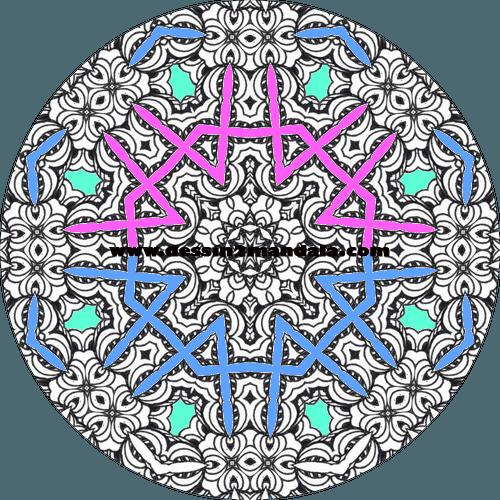 mandala à colorier numéro 22