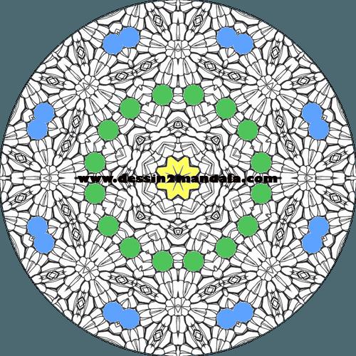 mandala à colorier numéro 25