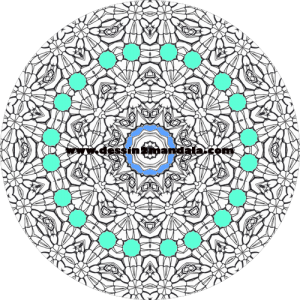 mandala à colorier numéro 27