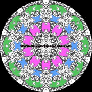 mandala à colorier numéro 30