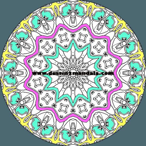 mandala à colorier numéro 37