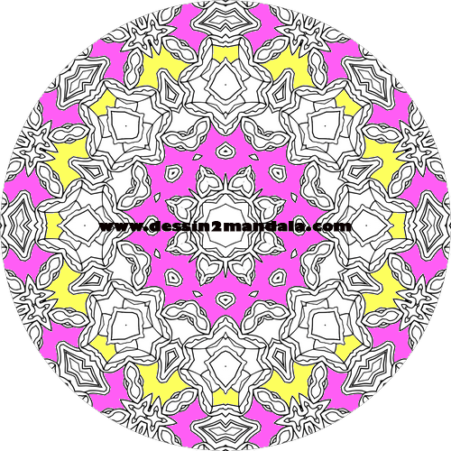 mandala à colorier numéro 39