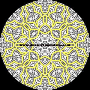 mandala à colorier numéro 43