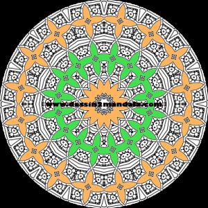 mandala à colorier numéro 45