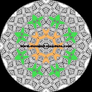 mandala à colorier numéro 46
