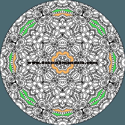 mandala à colorier numéro 47