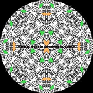 mandala à colorier numéro 49