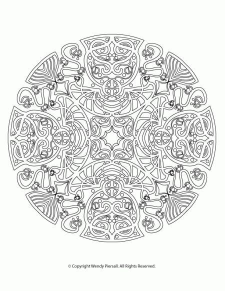 Coloriage mandala anti stress 58 dessin de mandala - Dessin anti stress mandala ...
