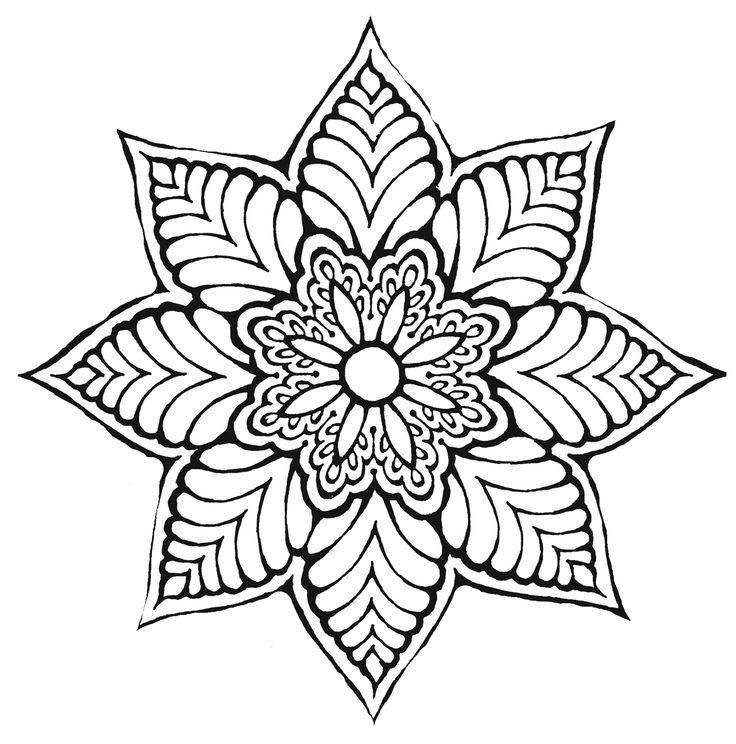 Coloriage mandala en ligne 44 dessin de mandala - Mandala coloriage en ligne ...