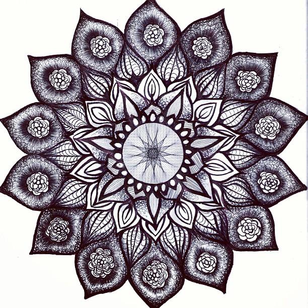 Coloriage Mandala Couleur.Coloriage Mandala Tout En Couleurs 52 Dessin De Mandala