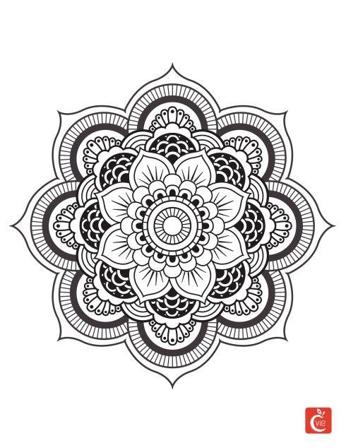 Coloriage Mandala Rond.Dessin De Mandalas A Imprimer 24 Dessin De Mandala