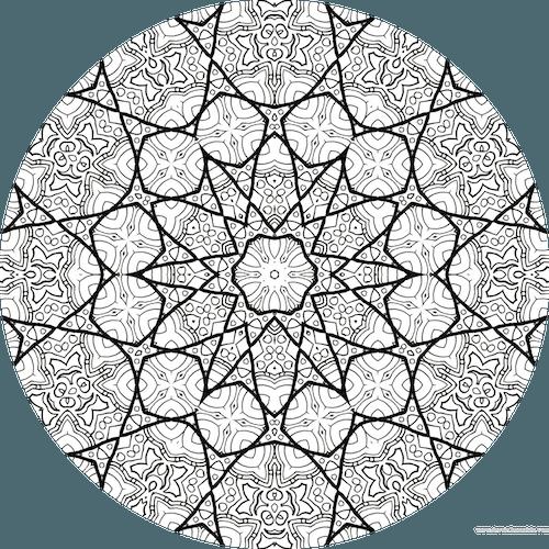 Dessin Mandala à Colorier Numero 075 Dessin De Mandala