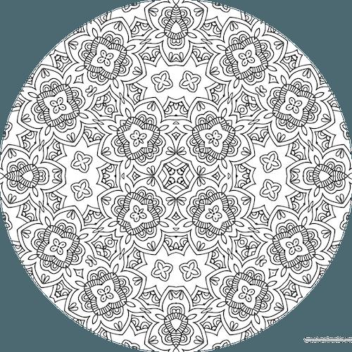 Coloriage Mandala à Imprimer Pour Adulte Dessin De Mandala