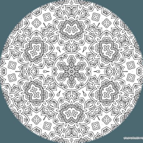 Coloriage Anti Stress A Imprimer Gratuit Dessin De Mandala