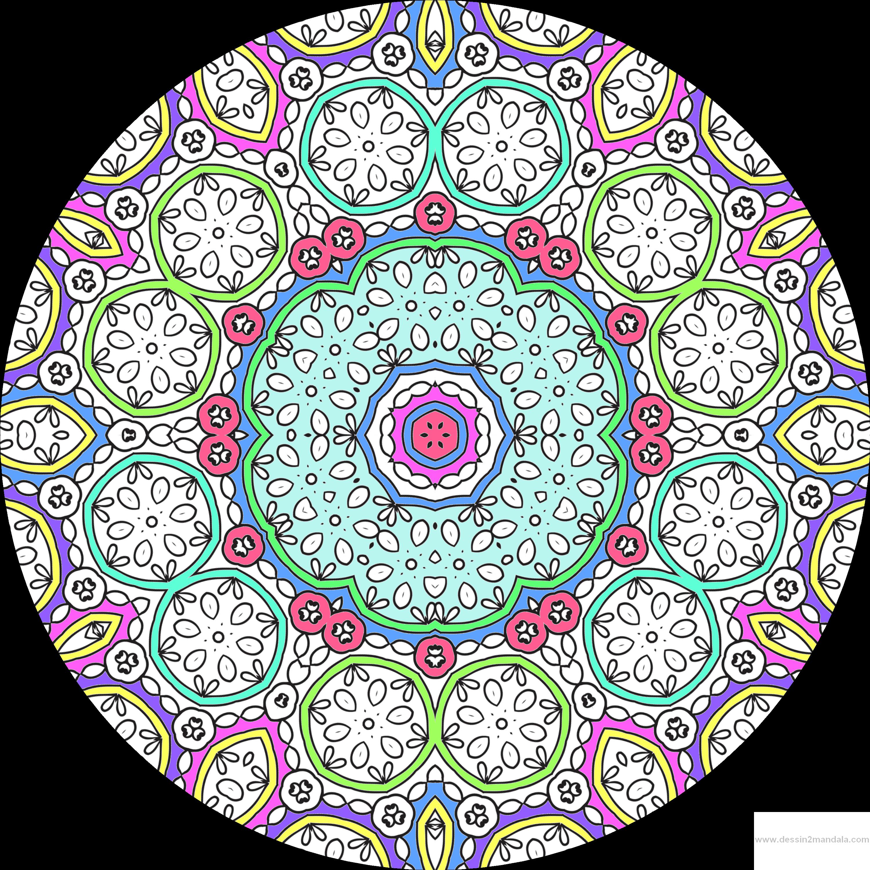 Le coloriage anti stress pour adulte en ligne   Dessin de mandala