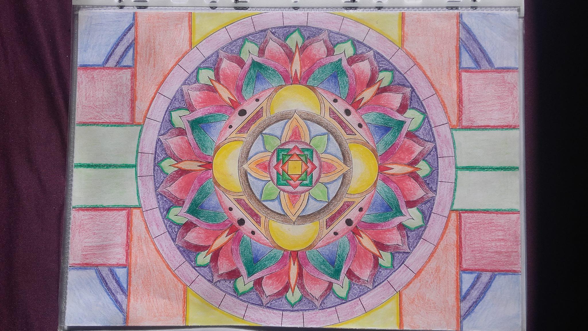 Coloriage Mandala Couleur.Le Coloriage Mandala Haut En Couleur De Julien T Dessin De Mandala