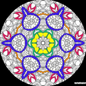 dessin à colorier mandala imprimer numero 27
