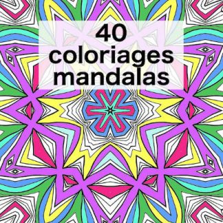 Mandala à colorier couverture livre ebook