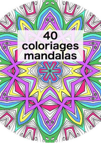 Mandala à colorier couverture livre ebook