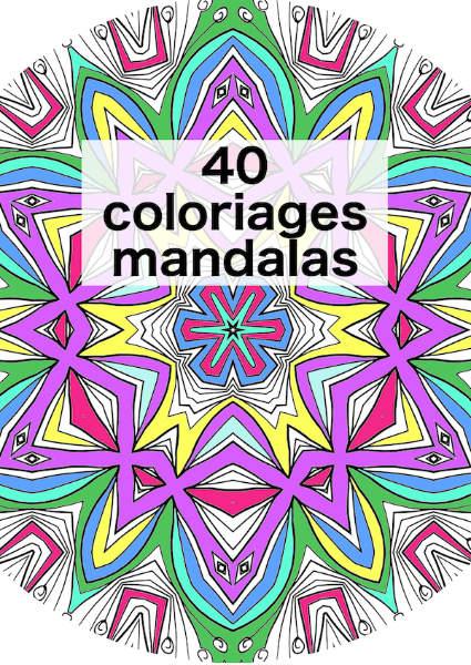 40 coloriages mandala à imprimer